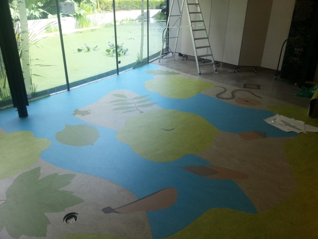 Marmoleum Flooring Design : Marmoleum flooring design old school fabrications